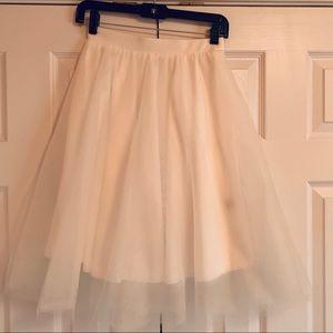 Charlotte Russe Skirts - White Tulle Skirt